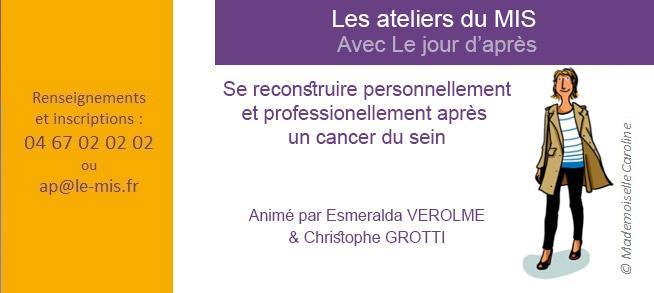 Les ateliers du MIS : cancer du sein et vie professionnelle