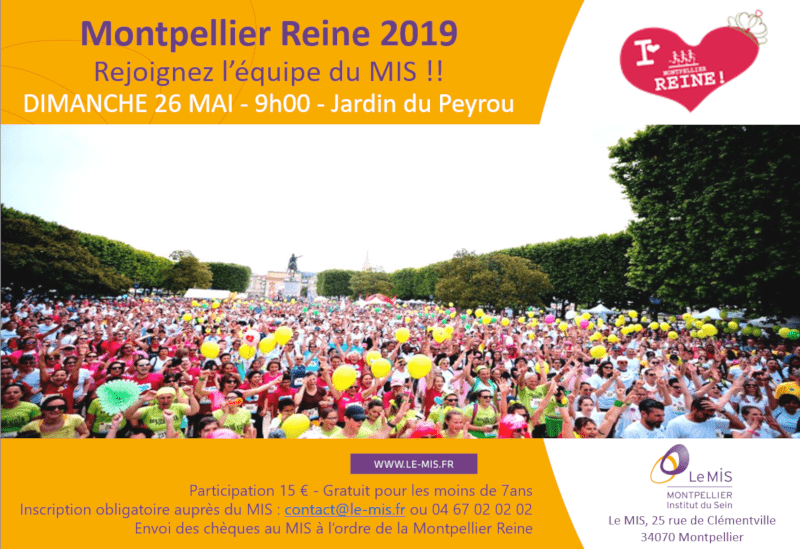Montpellier-Reine 2019 ! Rejoignez l'équipe du MIS !